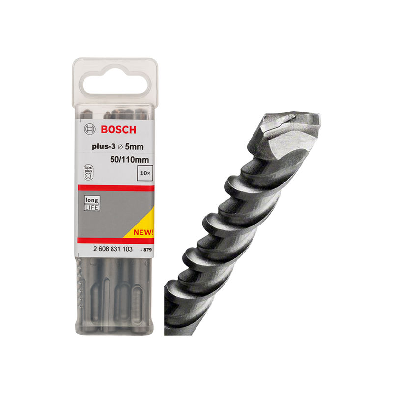 5 x 50 x 110 mm Pack de 10 brocas para martillos perforadores SDS-plus-7 Bosch 2 608 585 055